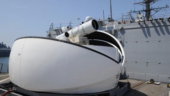La US Navy anuncia un primer buque con arma láser para este verano