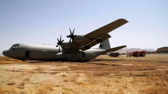 La impresionante salida de pista de un «Súper Hércules» italiano en Herat