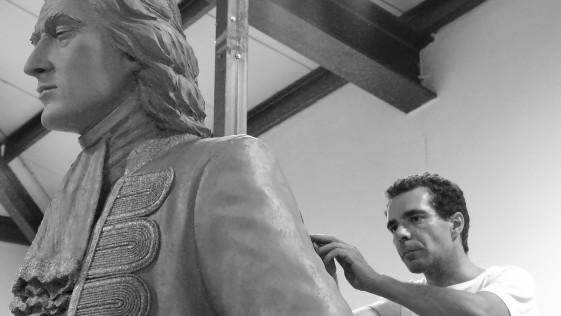 Desvelamos la escultura del Monumento a Blas de Lezo en Madrid