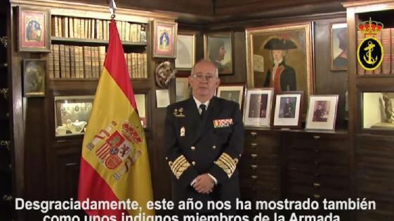 El alijo de cocaína de «Elcano», en el mensaje de Navidad del jefe de la Armada