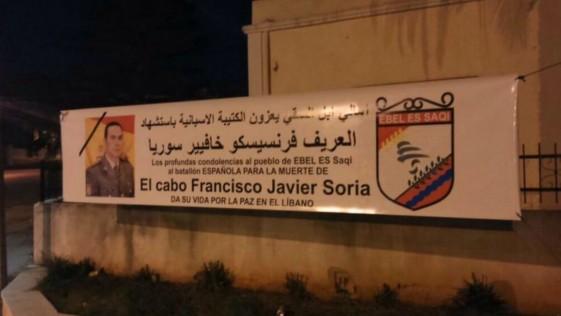 Un pueblo del Líbano rinde homenaje al cabo Francisco Javier Soria