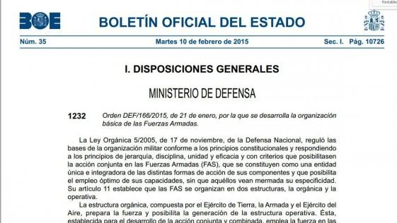 El B.O.E. da vía libre a las «brigadas polivalentes» del Ejército de Tierra