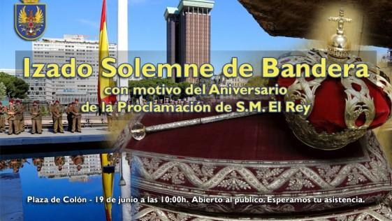 Izado solemne de la Bandera para celebrar el primer aniversario de Felipe VI