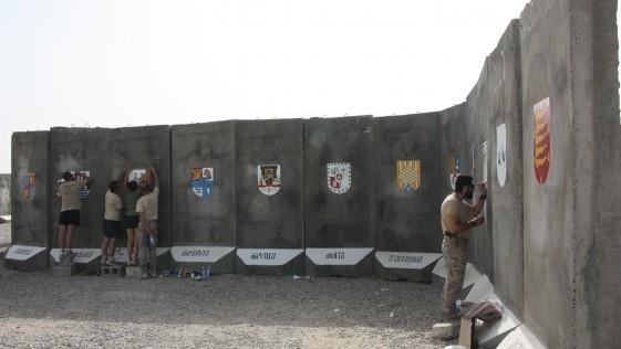 La Legión inaugura la Plaza España en el mismísimo corazón de Irak