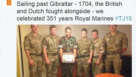 Malestar español por la celebración sobre Gibraltar: la Marina holandesa rectificó
