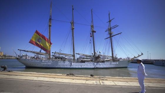 El buque Juan Sebastián de Elcano zarpa este sábado rumbo a Brasil, Senegal o Marruecos