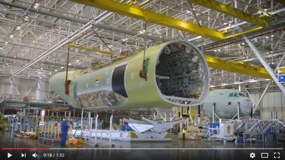 Vídeo: así se ensambló el primer A400M del Ejército del Aire