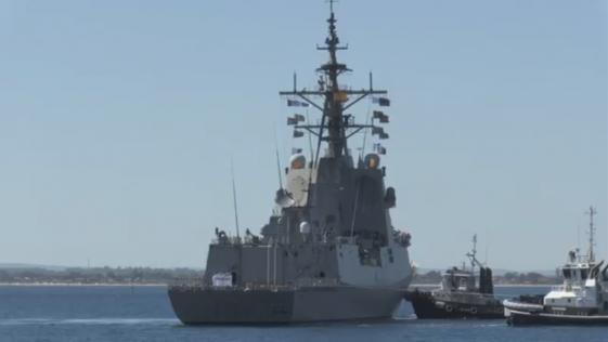 La fragata «Cristóbal Colón» llega a Australia