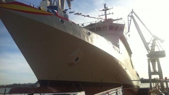 Navantia bota hoy el «Audaz», el primer buque para la Armada en seis años