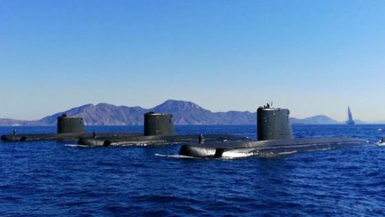 Despliegue de los tres submarinos de la Armada al mismo tiempo