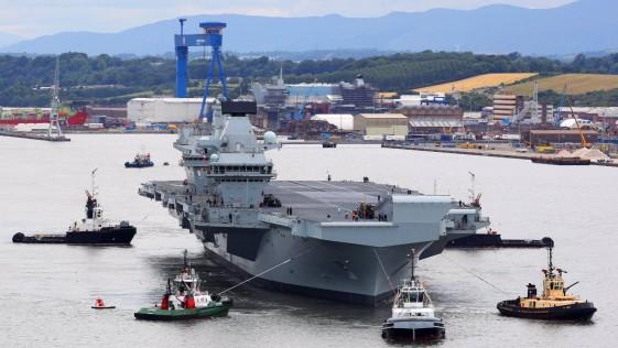Portaaviones Queen Elizabeth: zarpa el mayor buque de guerra jamás construido en Reino Unido