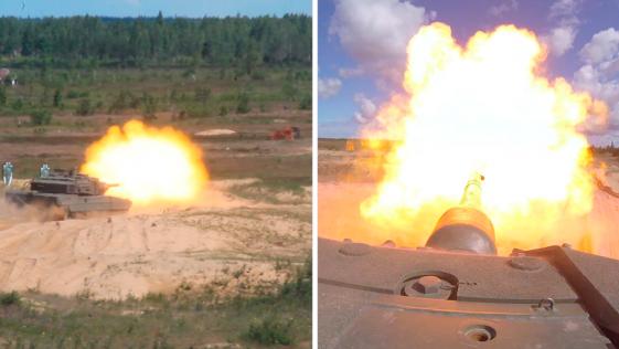 Letonia: los carros Leopardo españoles abren fuego por primera vez con la OTAN