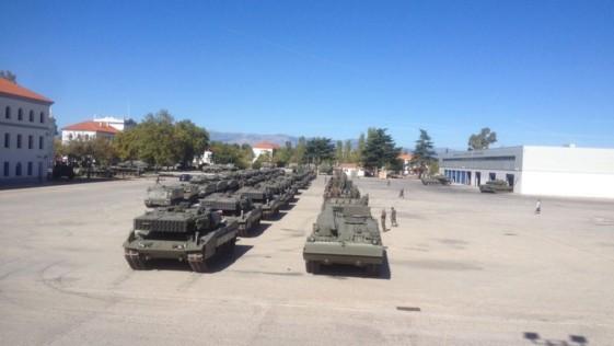 300 vehículos y 1.200 militares de la «Guadarrama», de maniobras en Aragón