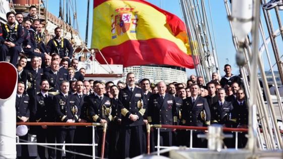 Visita histórica de dos Reyes al buque escuela Juan Sebastián de Elcano