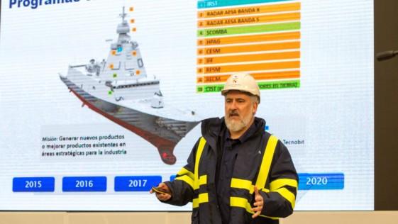 El presidente de Navantia presenta el proyecto de las nuevas fragatas F-110