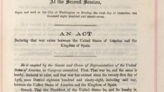 25 de abril de 1898: el día que EE.UU. declaró la guerra a España