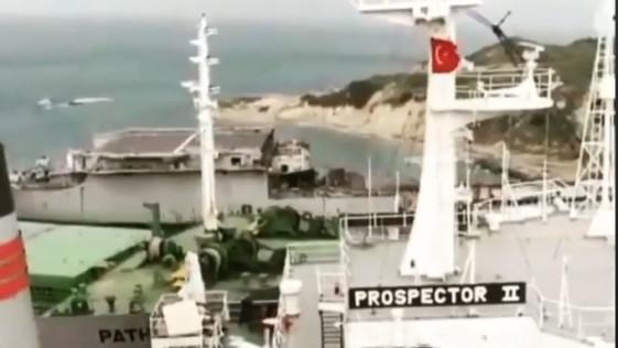 Imágenes del portaaviones «Príncipe de Asturias» casi desguazado en Turquía