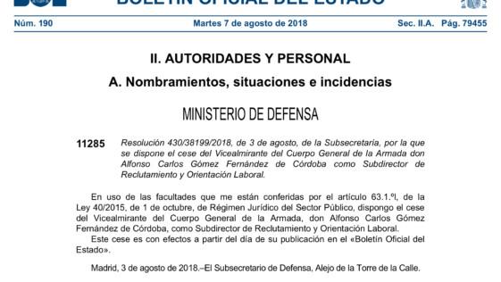 Cese del subdirector de Reclutamiento en plena polémica de la oposición a psicólogo militar