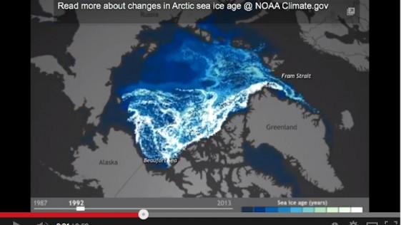 El deshielo del Ártico, en un minuto
