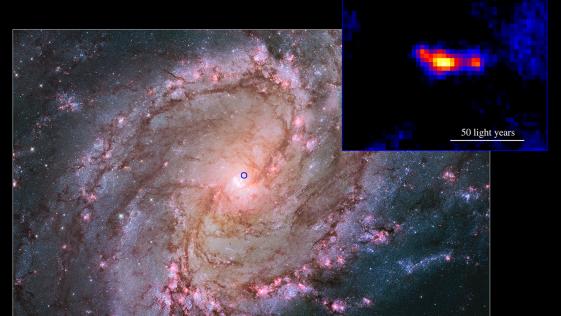 Detectan un potentísimo agujero negro en una galaxia cercana