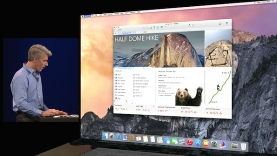 Apple anuncia Yosemite, un «puente» entre dispositivos