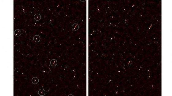 Descubren una alineación de agujeros negros a millones de años luz de la Tierra