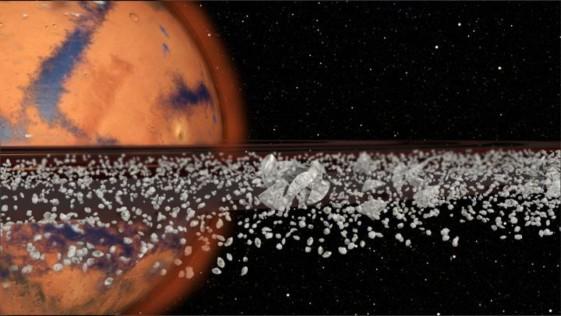 Marte tuvo anillos en el pasado, y los volverá a tener
