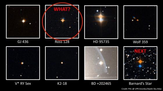¿Quién envía señales de radio desde la estrella Ross 128?