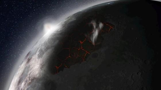 ¿Fue la Luna un planeta azul y con atmósfera?