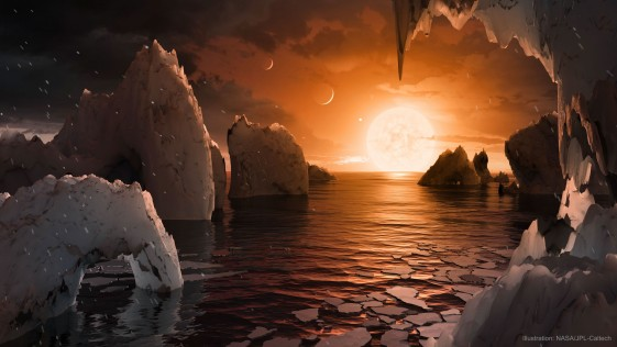 Los planetas de TRAPPIST-1 tienen 250 veces más agua que la Tierra