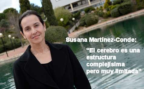 Susana Martínez-Conde, directora del  laboratorio de Neurociencia Visual del Instituto Barrow
