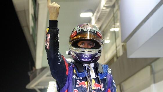 Seis festivales de palmas para Vettel