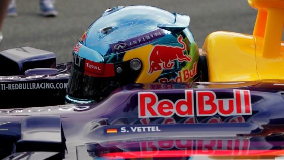 Vettel aburre en la tele