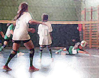 """Vóley: Los peques de La Salle San Rafael y San Eulogio """"B"""" saborean su primera victoria"""