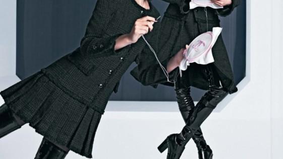 La modelos de Chanel hacen «petit point»