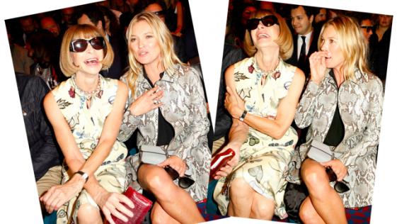 Kate Moss hace reír a Anna Wintour