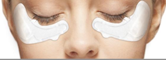 Proteoglicanos y parches de ojos con microcorrientes