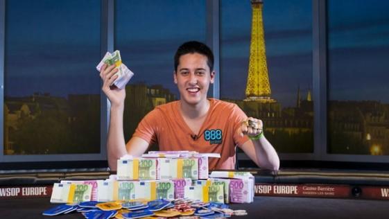 El madrileño Adrián Mateos gana un millón en las WSOPE de París