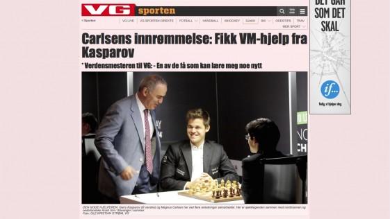 Kasparov, el arma secreta de Magnus Carlsen