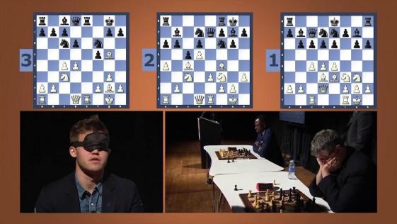 Más difícil todavía: Carlsen, a la ciega, en partidas rápidas simultáneas