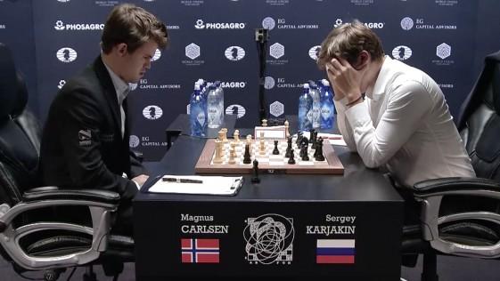 Karjakin siente vértigo y Carlsen empata el Mundial