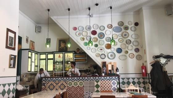 Dos comidas en Santarém, Portugal