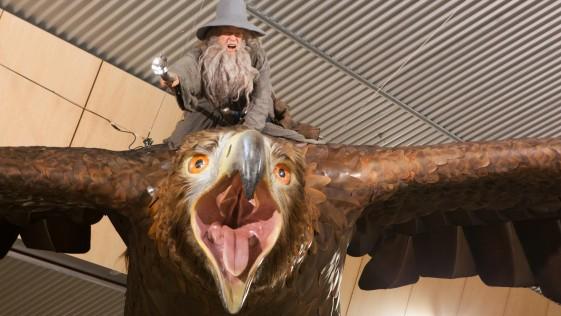 Gandalf y Gollum: la Tierra Media toma el aeropuerto de Nueva Zelanda