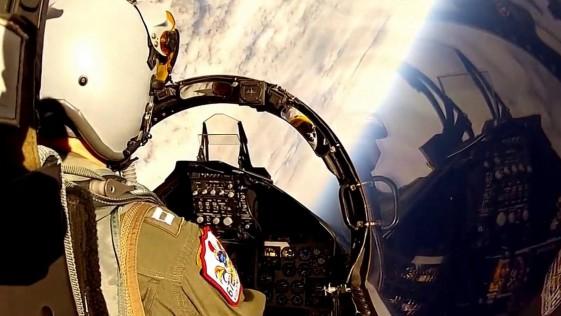 Así ve el mundo un piloto de un caza F-15 con una cámara GoPro