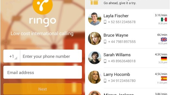 Ringo: llamadas internacionales más baratas que Skype y sin internet