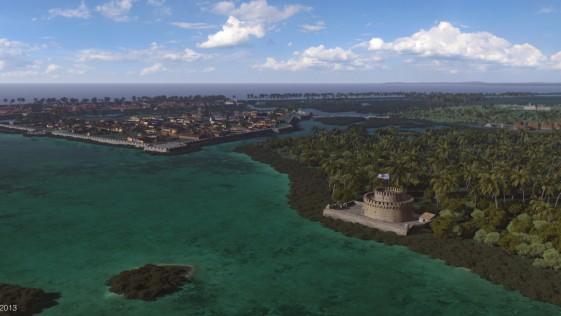Cartagena de Indias 1741: el día de la batalla en 3D