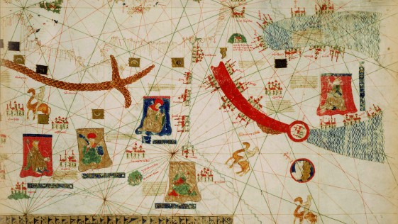 La carta náutica antigua que huele a café