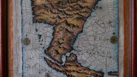 Un mapa que delineó la expedición de García Nodal.