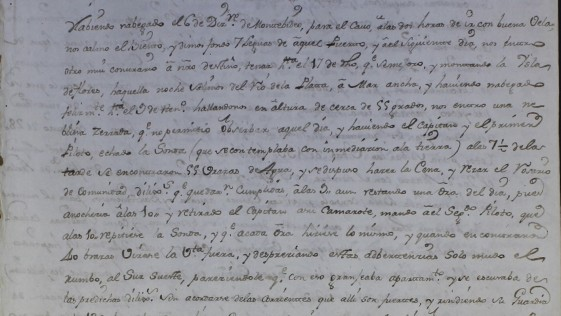 Habla un náufrago del «Purísima Concepción» (1765)