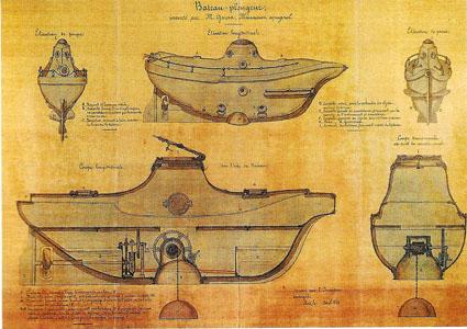 El primer submarino obra de un español